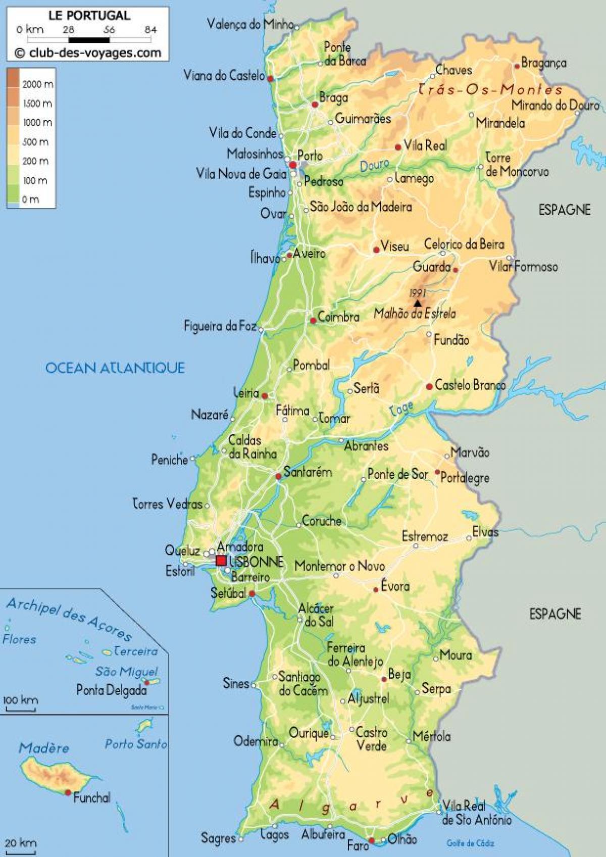 Portogallo Cartina Dettagliata.Mappa Del Portogallo Mappa Dettagliata Del Portogallo