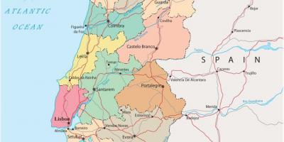 Portogallo Cartina Geografica Politica.Portogallo Mappa Mappe Portogallo Europa Del Sud Europa